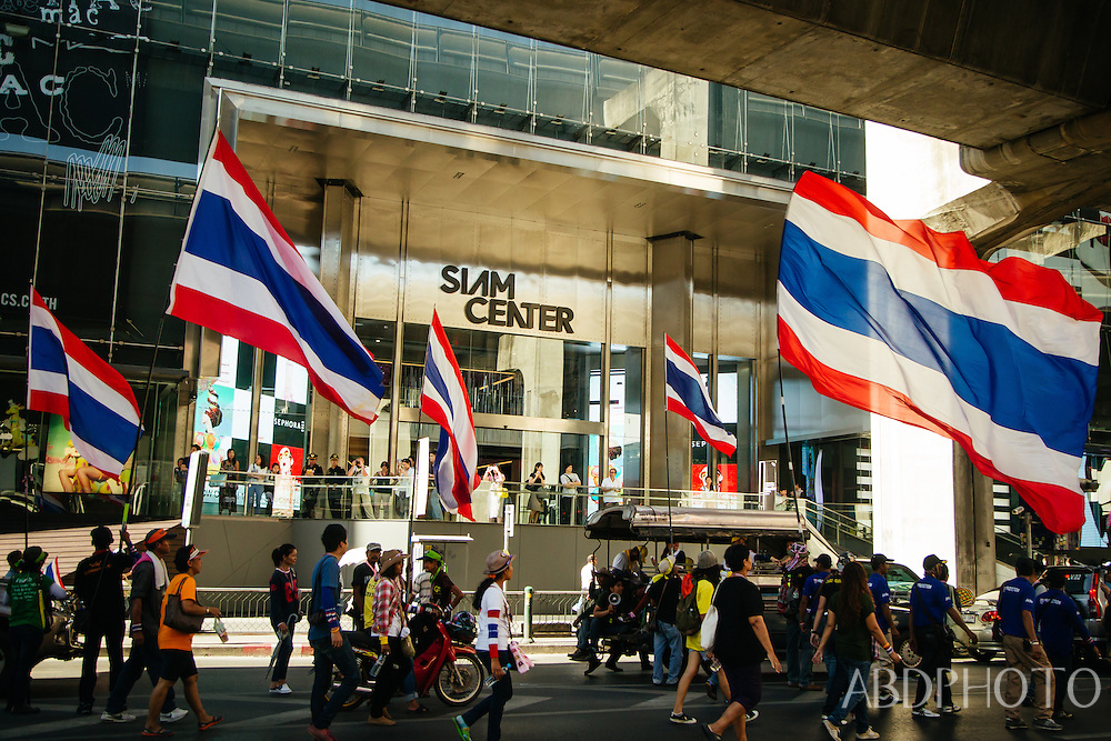 Bangkok protests government suthep yingluk sukhumvit asoke shut down