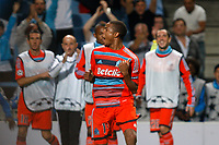 FOOTBALL - UEFA CHAMPIONS LEAGUE 2011/2012 - GROUP STAGE - GROUP F - OLYMPIQUE MARSEILLE v BORUSSIA DORTMUND - 28/09/2011 - PHOTO PHILIPPE LAURENSON / DPPI - JOY AFTER GOAL LOIC REMY (OM)