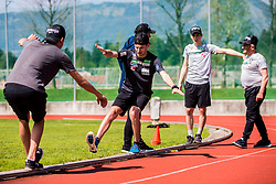 Ziga Jelar of national ski jumping team during training of Slovenian Ski Jumping team, on April 25th, 2019 in Sports Park Kranj, Kranj, Slovenia. Photo by Grega Valancic / Sportida
