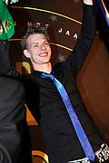 AVRO Radiogala 2011 in het Stadhuis van Hilversum.<br /> <br /> Op de foto:  Sander Hoogendoorn (BNN 3FM / KX Radio) heeft de AVRO Gouden RadioRing Aanstormend talent Award 2011 gewonnen.