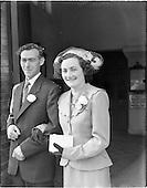 1952 Mr. Thomas Meade and Miss Joan Goggin Wedding