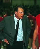 Basket, BK mot Ulriken, seriekamp Kongsberghallen 22. januar 2000. Ulrikens trener David Swan. Foto: Digitalsport