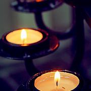 Candles Hallgrimskirkja cathedral, Reykjavik, Iceland (August 2006)