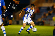 Colchester United midfielder Diaz Wright (16) during the EFL Trophy match between Colchester United and Southend United at the Weston Homes Community Stadium, Colchester, England on 9 October 2018.