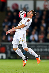 Angel Rangel of Swansea City in action - Mandatory byline: Rogan Thomson/JMP - 07966 386802 - 19/10/2015 - FOOTBALL - Liberty Stadium - Swansea, Wales - Swansea City v Stoke City - Barclays Premier League.