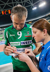 Nikola Grbic of Cuneo after the volleyball match between ACH Volley Ljubljana and Bre Banca Lannutti Cuneo (ITA) in Playoff 12 game of CEV Champions League 2012/13 on January 15, 2013 in Arena Stozice, Ljubljana, Slovenia. (Photo By Vid Ponikvar / Sportida.com)