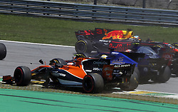 November 12, 2017 - Brazil - SAO PAULO, SP - 12.11.2017: GRANDE PR MIO DO BRASIL DE FORMULA 1 2017 - Stoffel Vandoorne of McLaren in an accident during the 2017 Formula 1 Brazilian Grand Prix, held at the Interlagos Circuit in Sao Paulo, SP, on Sunday (12) (Credit Image: © Fotoarena via ZUMA Press)