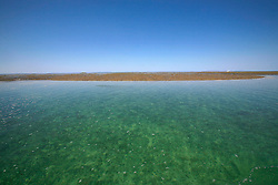 The pristine waters around Montgomery Reef on a neap tide.