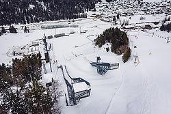30.01.2019, Seefeld, AUT, FIS Weltmeisterschaften Ski Nordisch, Seefeld 2019, im Bild Uebersicht der Skisprunganlage und des Langlaufstadions // Overview of the ski jumping facility and the cross-country stadium before the FIS Nordic Ski World Championships Seefeld 2019 in Seefeld, Austria on 2019/01/30. EXPA Pictures © 2019, PhotoCredit: EXPA/ JFK
