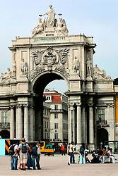 PORTUGAL LISBON 6OCT06 - Arco da Rua Augusta, a monument marking the entry to the Praco do Comercio from Rua Augusta in the Baixa, Lisbon.. . jre/Photo by Jiri Rezac. . © Jiri Rezac 2006. . Contact: +44 (0) 7050 110 417. Mobile:  +44 (0) 7801 337 683. Office:  +44 (0) 20 8968 9635. . Email:   jiri@jirirezac.com. Web:    www.jirirezac.com. . © All images Jiri Rezac 2006 - All rights reserved.