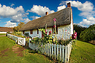 Thatched Long House from Harem at the Ryedale Folk Museum, Hutton Le Hole, North Yorks Moors National Park, Yorkshire, England
