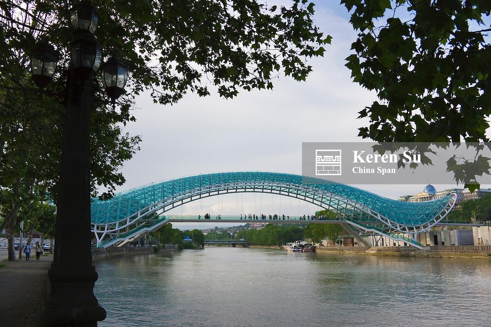 Bridge of Peace over Mt'k'vari (Kura) River,Tbilisi, Georgia