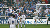 Photo: Andrew Unwin.<br />Hartlepool United v Leeds United. Pre Season Friendly. 22/07/2006.<br />Hartlepool's James Brown (C) scores his team's second goal.
