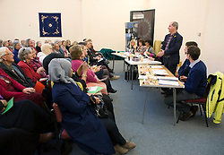 © Licensed to London News Pictures.  31/03/2015. Bristol, UK.  General Election 2015.  Stephen Williams, Lib Dem candidate for Bristol West.  Candidates for the Bristol West constituency take part in Bristol Women's Voice Women's Question Time at the Unitarian Chapel, Brunswick Square.  Bristol West was held by Stephen Williams for the Lib Dems at the last election with a majority of more than 11,000, but both Labour and the Green Party are targeting the seat for a win.  Photo credit : Simon Chapman/LNP