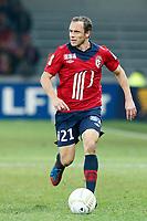FOOTBALL - FRENCH LEAGUE CUP 2012/2013 - 1/8 FINAL - LILLE OSC v TOULOUSE FC - 30/10/2012 - PHOTO CHRISTOPHE ELISE / DPPI - LAURENT BONNART (LOSC)