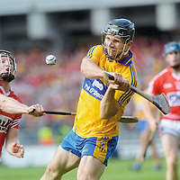 """8 September 2013;<br /> <br /> <br /> <br /> Cometh the hour and all that. Domhnall OíDonovan picks the best time imaginable to score his first competitive point in intercounty hurling. Stephen White and Cork were only seconds away from victory. The final finishes level for the second time in 12 months and only the second time since 1959<br /> <br /> <br /> <br />  Picture credit: Brian Lawless / SPORTSFILE<br /> <br /> <br /> <br /> This image may be reproduced free of charge when used in conjunction with a review of the book """"A Season of Sundays 2013"""". All other usage © SPORTSFILE *** NO REPRODUCTION FEE ***"""