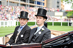 Left to right, WILL GRIFFITHS and VISCOUNT GRIMSTON  at the third day of the Royal Ascot 2010 (Ladies Day) Racing Festival at Ascot Racecourse, Bershire on 17th June 2010.
