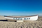 Lifeguard resue boat, Cape May, NJ, New Jersey, USA