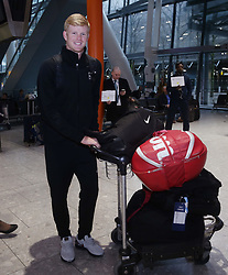 Great Britain's Kyle Edmund arriving back at Heathrow Airport, London, after exceeding expectations by reaching the semi final stage of the Australian Open in Melbourne earlier this week.