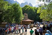 Festival of Our Lady of the Virgin of Corona, at Ermita de Corona, Valle de Valdeon, Picos de Europa, Spain