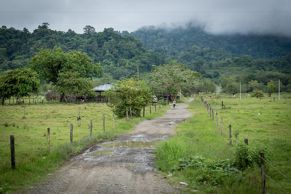 16 November 2018, La Fortuna, Mutatá, Antioquia, Colombia: The Urabá region, in northwest Colombia, forms a strategically important corridor for trade into Central America, with resulting drug trafficking and arms trade still keeping armed groups active in the area, causing insecurity for families trying to live a life of peace.