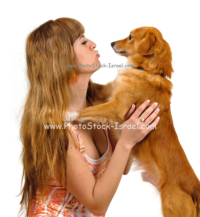 Human and Dog face to face