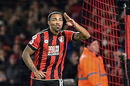 AFC Bournemouth Forward, Callum Wilson (13) scores a penalty to make it 2-0 during the Premier League match between Bournemouth and Arsenal at the Vitality Stadium, Bournemouth, England on 3 January 2017. Photo by Adam Rivers.