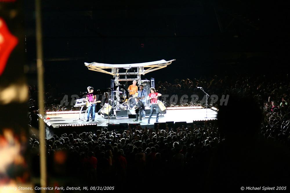 DETROIT, MI, WEDNESDAY, AUG. 31, 2005 : Rolling Stones,  at Comerica Park, Detroit, MI, 08/31/2005. (Image Credit: Michael Spleet / 2SnapsUp Photography)