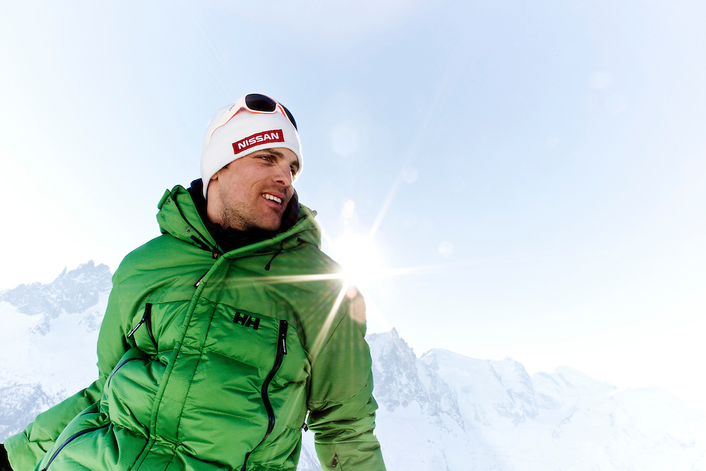 EVENT: NISSAN FREERIDE DE CHAMONIX-MONT-BLANC 2011 BY SWATCH, PARTNER: NISSAN, RIDER: AURELIEN DUCROZ - FRA, STYLE: PORTRAIT.Freeride World Tour 2011 - Six locations around the world, Chamonix Mont-Blanc, Engadin St Moritz, Sochi, Kirkwood, Fieberbrunn and Verbier have been selected for the 4th edition of the Freeride World Tour..The planet's top freeride skiers and snowboarders, men and women travel around the world to prove their skills on some of the most challenging faces..www.freerideworldtour.com