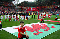 Football - 2016 / 2017 World Cup Qualifier - Group D: Wales vs. Georgia<br /> <br /> The teams line up for he anthems , at Cardiff City Stadium.<br /> <br /> COLORSPORT/WINSTON BYNORTH