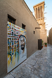 Original historic Al Fahidi district , al Bastakiya , in Dubai, United Arab Emirates