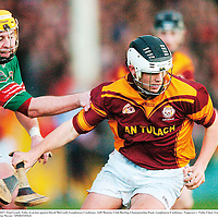 2 December 2007; Paul Lynch, Tulla, in action against David McGrath, Loughmore Castleiney. AIB Munster Club Hurling Championship Final, Loughmore-Castleiney, Tipperary v Tulla, Clare, Gaelic Grounds, Limerick. Picture credit; Brendan Moran / SPORTSFILE