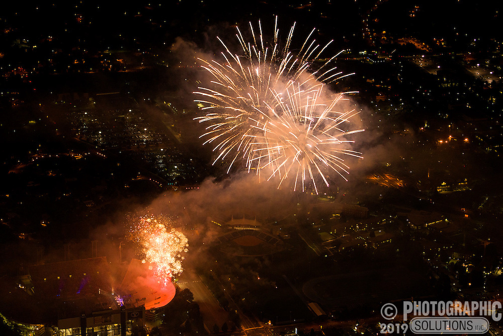 Fireworks at the Stadium of Fire at BYU Lavell Edwards Stadium. July 4, 2012