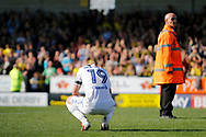 Leeds United midfielder Pablo Hernandez (19)  reacts to a 2-1 defeat to Burton Albion  during the EFL Sky Bet Championship match between Burton Albion and Leeds United at the Pirelli Stadium, Burton upon Trent, England on 22 April 2017. Photo by Richard Holmes.