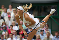 30.06.2011, Wimbledon, London, GBR, WTA Tour, Wimbledon Tennis Championships, im Bild Maria Sharapova (RUS) in action during the Ladies' Singles Semi-Final match on day ten of the Wimbledon Lawn Tennis Championships at the All England Lawn Tennis and Croquet Club. EXPA Pictures © 2011, PhotoCredit: EXPA/ Propaganda/ David Rawcliffe +++++ ATTENTION - OUT OF ENGLAND/UK +++++