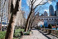 US, New York City. Bryant Park. New York Public Library.