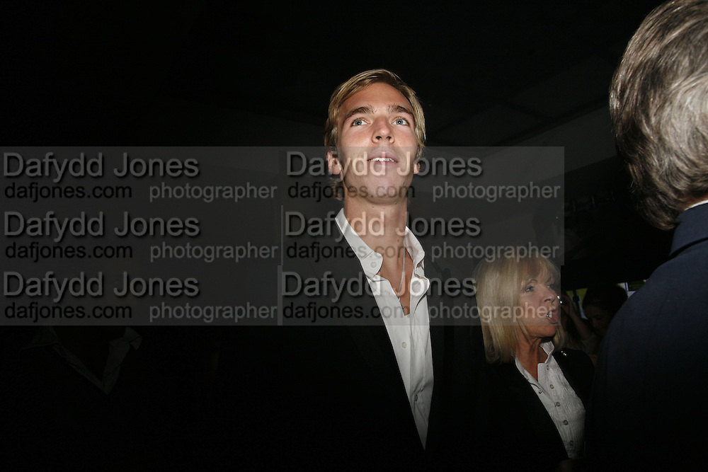 James Cook and his mother Adrienne Cook, Pepe Jeans, Sienna Miller  new ambassador party. 17 Berkeley Street, London, W1.  4 October 2006. -DO NOT ARCHIVE-© Copyright Photograph by Dafydd Jones 66 Stockwell Park Rd. London SW9 0DA Tel 020 7733 0108 www.dafjones.com