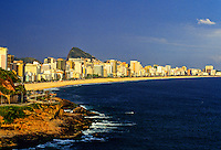 View of Leblon and Ipanema beaches from Vidigal Beach, Rio de Janeiro, Brazil
