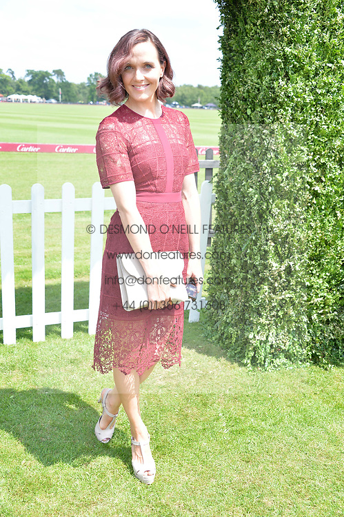 Victoria Pendleton at Cartier Queen's Cup Polo, Guard's Polo Club, Berkshire, England. 18 June 2017.<br /> Photo by Dominic O'Neill/SilverHub 0203 174 1069 sales@silverhubmedia.com