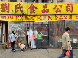 Chinatown market in New York City
