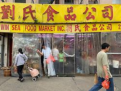 Chinatown market in New York City