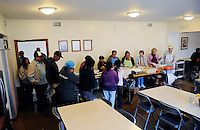 A hearty midday meal is served at the First United Methodist Church in Salinas, California. Volunteers from the community drive a program that provides meals, counseling resources and occasional shelter to people in need.