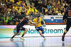 Jaka Malus during handball match between RK Celje Pivovarna Lasko (SLO) and Paris Saint-Germain HB (FRA) in VELUX EHF Champions League 2018/19, on February 24, 2019 in Arena Zlatorog, Celje, Slovenia. Photo by Peter Podobnik / Sportida
