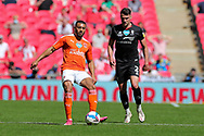 Blackpool Forward Keshi Anderson (8) passes the ball during the EFL Sky Bet League 1 Play-Off Final match between Blackpool and Lincoln City at Wembley Stadium, London, England on 30 May 2021.
