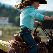 Lil Miss Darby Rodeo at the Darby MT Kiddie Rodeo July 7th 2017.  Photo by Josh Homer/Burning Ember Photography.  Photo credit must be given on all uses.