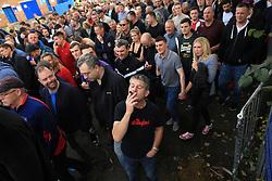 24th September 2017 - Sky Bet EFL Championship - Sheffield Wednesday v Sheffield United - A Sheff Utd fan enjoys a cigar after the match - Photo: Simon Stacpoole / Offside.