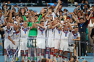Germany lift the 2014 FIFA World Cup at Maracana Stadium, Rio de Janeiro<br /> Picture by Andrew Tobin/Focus Images Ltd +44 7710 761829<br /> 13/07/2014