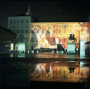 Torino Palazzo Reale in notturno