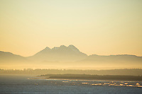 Saddle Mountain as seen from Cape Disappointment, Washington.