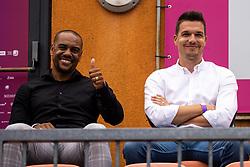 PORTOROZ, SLOVENIA - SEPTEMBER 16: Marcos Tavares (NK Maribor) and Jan Ternjak (Proelium) at WTA 250 Zavarovalnica Sava Portoroz at SRC Marina, on September 15, 2021 in Portoroz / Portorose, Slovenia. Photo by Matic Klansek Velej / Sportida